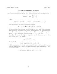 ee364a homework 6 solutions