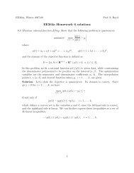 ee364a homework 6 solutions