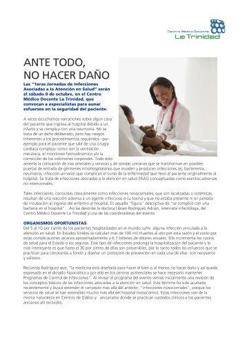 ANTE TODO, NO HACER DAÑO - Centro Médico Docente La Trinidad