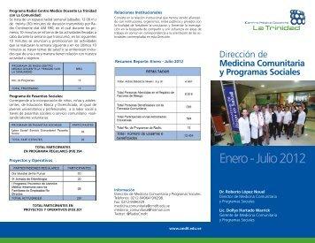 Enero a Julio 2012 - Centro Médico Docente La Trinidad