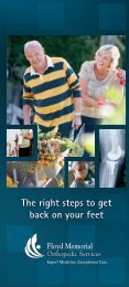 Total and partial joint replacement - Floyd Memorial Hospital
