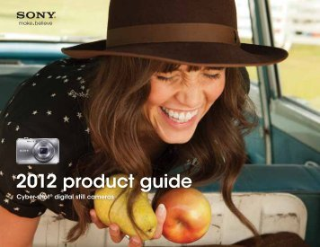 Sony 2012 Cyber-shot® Digital Still Cameras Product - Unique Photo
