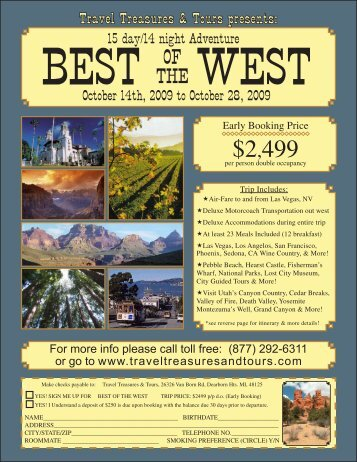 Best of The West - Travel Treasures & Tours