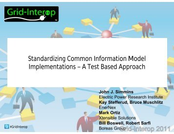 Standardizing Common Information Model Implementations – A Test ...