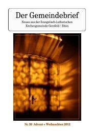 Winter 2012 - evangelische Kirche Gersfeld