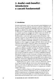 2. Analisi costi-benefici: - Università degli Studi di  Siena