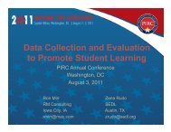 Data Collection and Evaluation to Promote Student Learning