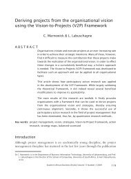 Deriving projects from the organisational vision using the Vision-to ...