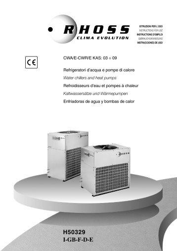 H50329-v0 Manuale Istruz. CWA-CWR/E 03-09 KAS ed.2001 - Rhoss