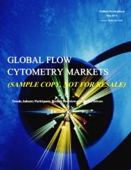 GLOBAL FLOW CYTOMETRY MARKETS - TriMarkPublications.com