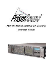 ADA-8XR Multi-channel A/D D/A Converter Operation Manual