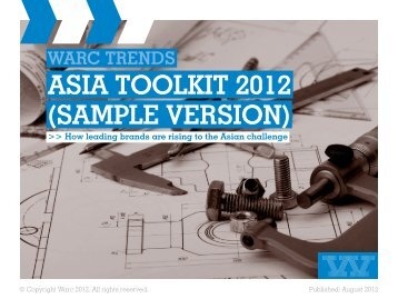 ASIA TOOLKIT 2012 (SAMPLE VERSION) - Warc