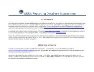 ARRA Reporting Instructionsx - Shared Services Home Page