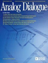 Analog Dialogue Volume 43, Number 2, 2009