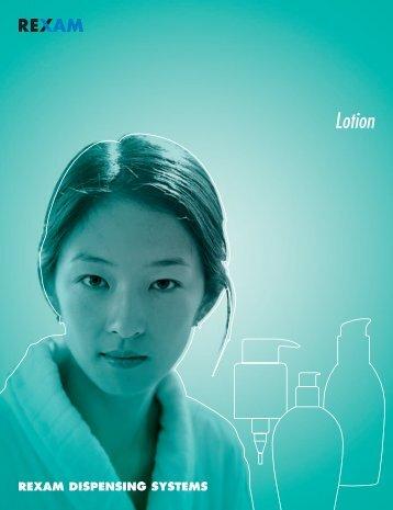 Lotion Pumps - Pompes Cosmétiques - Rexam Catalogue