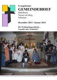 Dezember 2013/Januar 2014 - Pfarramt Schernau