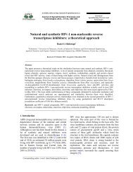 atural and synthetic HIV-1 non-nucleoside reverse transcriptase ...