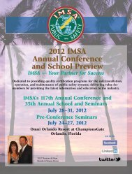 2012 IMSA Annual Conference and School Preview