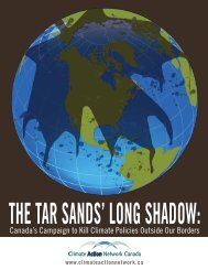 The Tar Sands' Long Shadow - Climate Action Network Canada