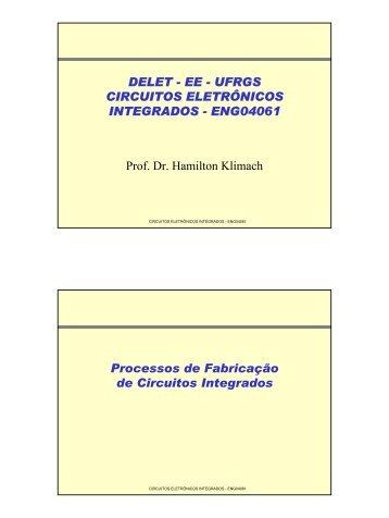 Processos de Fabricação e Dispositivos - Chasqueweb.ufrgs.br - Ufrgs