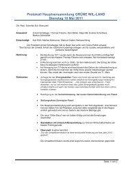 Protokoll Hauptversammlung GRÜNE WIL-LAND Dienstag 10 Mai ...