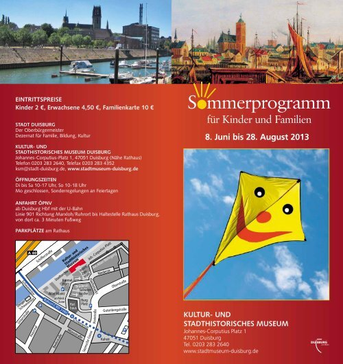 Programm-Flyer - Kultur- und Stadthistorsches Museum Duisburg