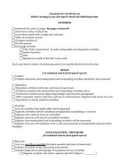 Checklist for Lab Write Up Before turning in any lab report check the ...