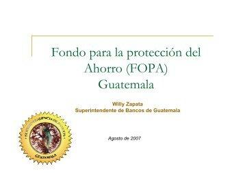 Fondo para la protección del Ahorro (FOPA) Guatemala