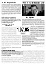 1er juillet 2005 - Festival international du documentaire de Marseille
