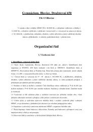 Organizační řád školy - Gymnázium Blovice