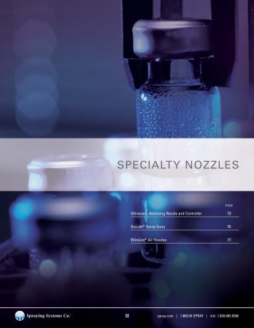 SPECIALTY NOZZLES - AccuJet