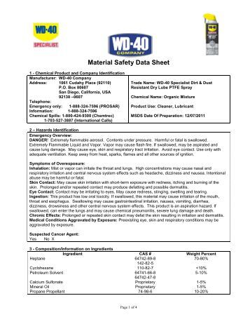 Water Resistant Silicone Lubricant Wd 40 Company