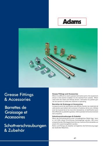 Grease Fittings & Accessories Barrettes de Graissage et ...