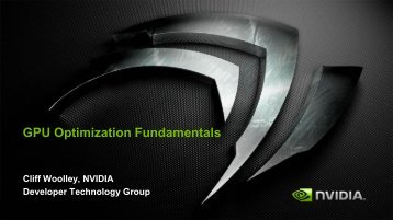 GPU Optimization Fundamentals