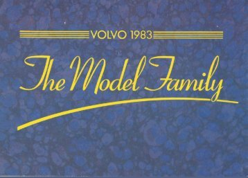 Volvo 1983 Range Brochure