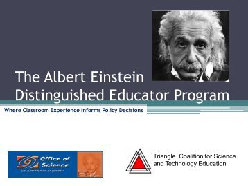 Einstein Fellow Application Presentation - Triangle Coalition