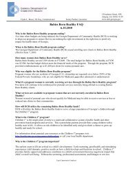 Babies Born Healthy FAQ 6.15.2010 - Georgia Division of Public ...