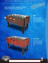 Big D Foosball Table Brochure - BMI Gaming