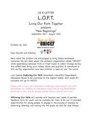 CE E-Letter Oct. 24 2011 - First Congregational UCC Washington DC