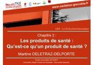 Les produits de santé - Université Virtuelle Paris 5