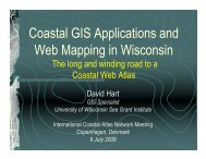 Coastal GIS Applications and Web Mapping in Wisconsin