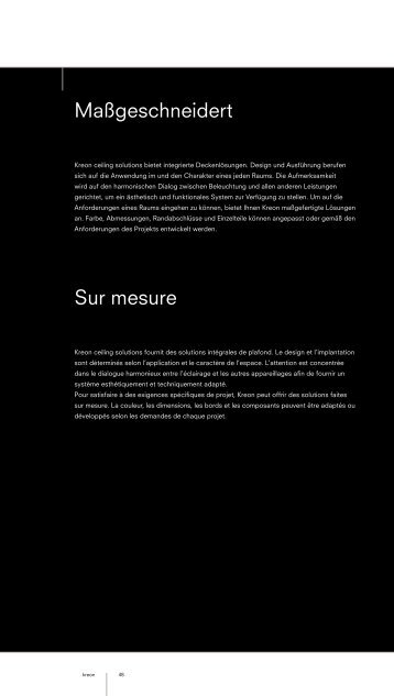 Maßgeschneidert Sur mesure - Kreon
