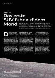 Das erste SUV fuhr auf dem Mond