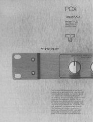 Threshold PCX crossover - AllegroSound