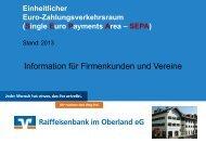 SEPA-Präsentation Firmen und Vereine - Raiffeisenbank im ...