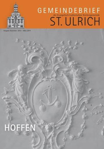 Winter 2013 - Evangelisch St.Ulrich Augsburg