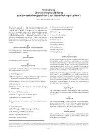 Verordnung über die Berufsausbildung zum Steuerfachangestellten ...