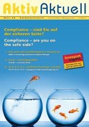Compliance – sind Sie auf der sicheren Seite ... - Aktiv-Assekuranz