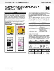 KODAK PROFESSIONAL PLUS-X 125 Film / 125PX - Stephen Grote