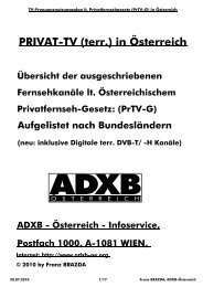 Österr. Privat-TV Kanäle (DVB-T/H - terr.)